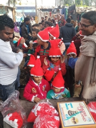 Celebrating Xmas & New year with poor children's_2