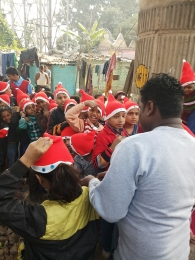 Celebrating Xmas & New year with poor children's_3