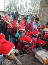Celebrating Xmas & New year with poor children's_6
