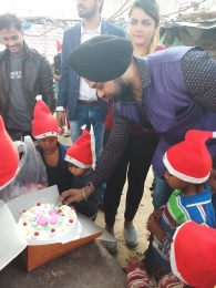 Celebrating Xmas & New year with poor children's_9